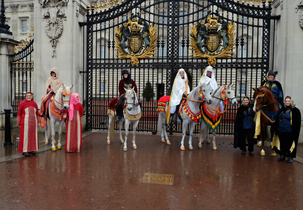 Arabian Horses Part of All The Queen's Horses New Year's Day Parade
