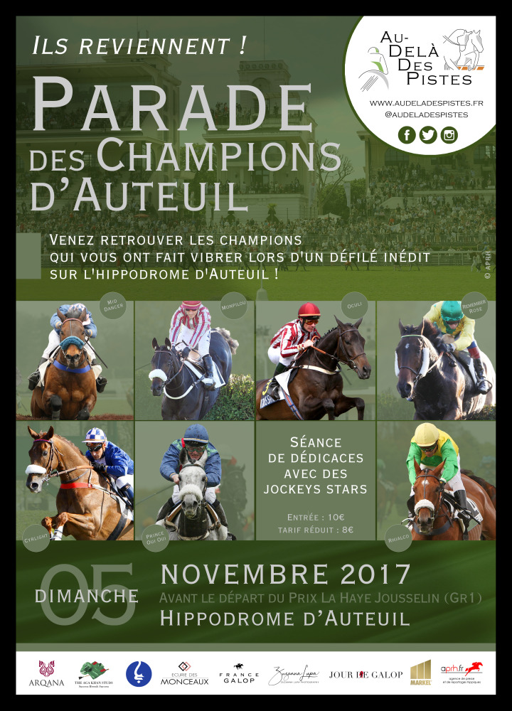 The first Parade of Champions at Auteuil will be held on the next 5 of November