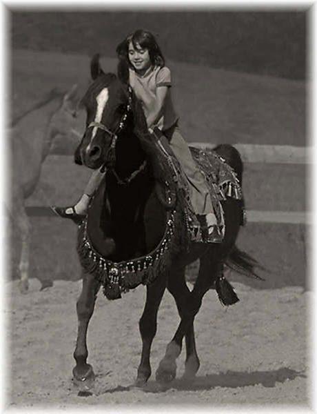Emma Maxwell on Kazra (Mikeno x Razhera), the foundation mare of Lodge Farm