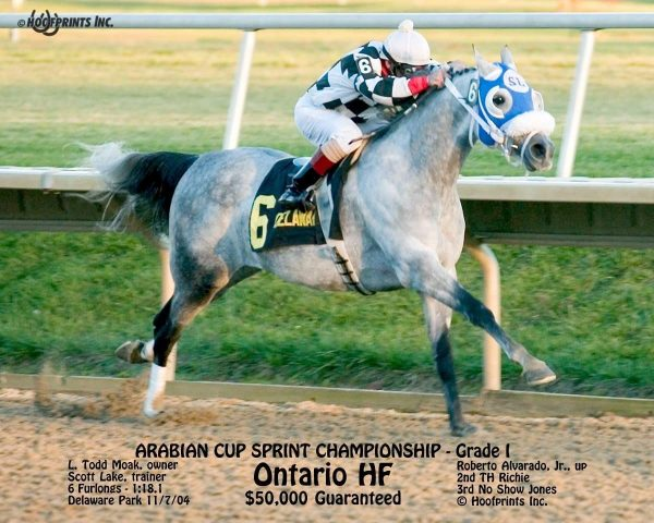 Ontario HF winning a Group 1 race in the US