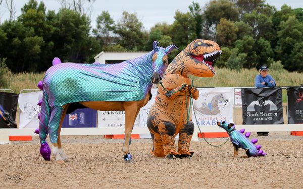 Horseasaurous and Dogasaurous with T-Rex Handler
